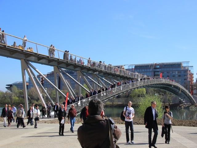 La Passerelle de la Paix officiellement ouverte au public entre Lyon et Caluire
