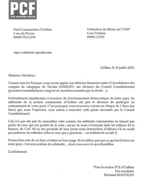Ledit courrier - DR UMP