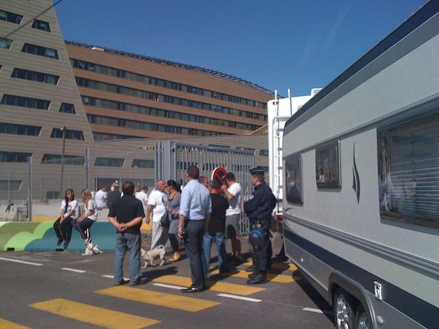 Lyon : la rue Montrochet (2e) bloquée par des forains