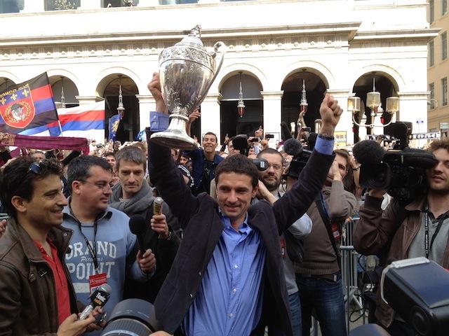 La Coupe de France est lyonnaise : retour en images sur la fête à l'Hôtel de Ville