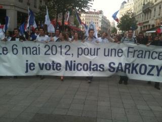 Manifestation pro Sarkozy à Lyon