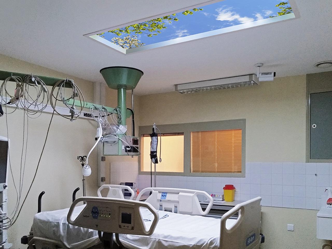 Centre hospitalier lyon sud un ciel artificiel pour relaxer les patients - Hopital lyon porte du sud ...