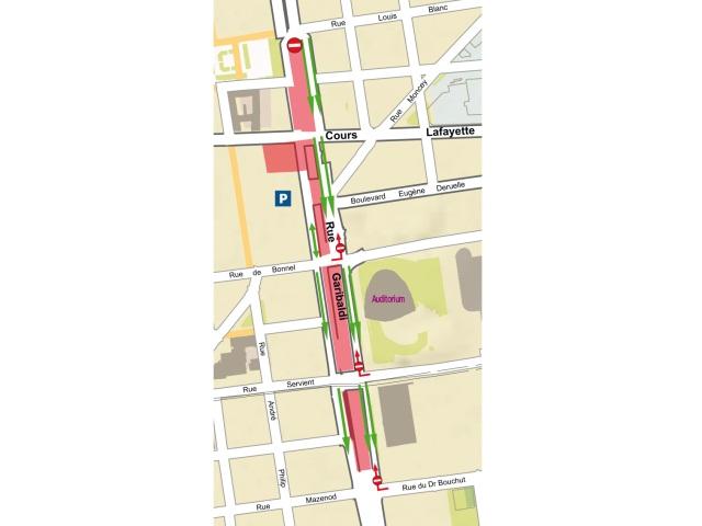 La circulation est modifiée sur la rue Garibaldi - DR Grand Lyon