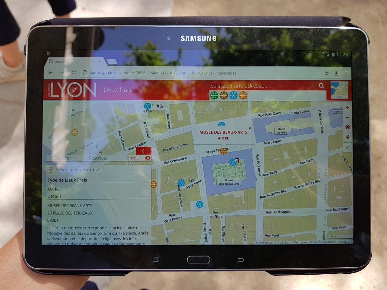 La cartographie des points frais sur le site internet de la Ville de Lyon - LyonMag