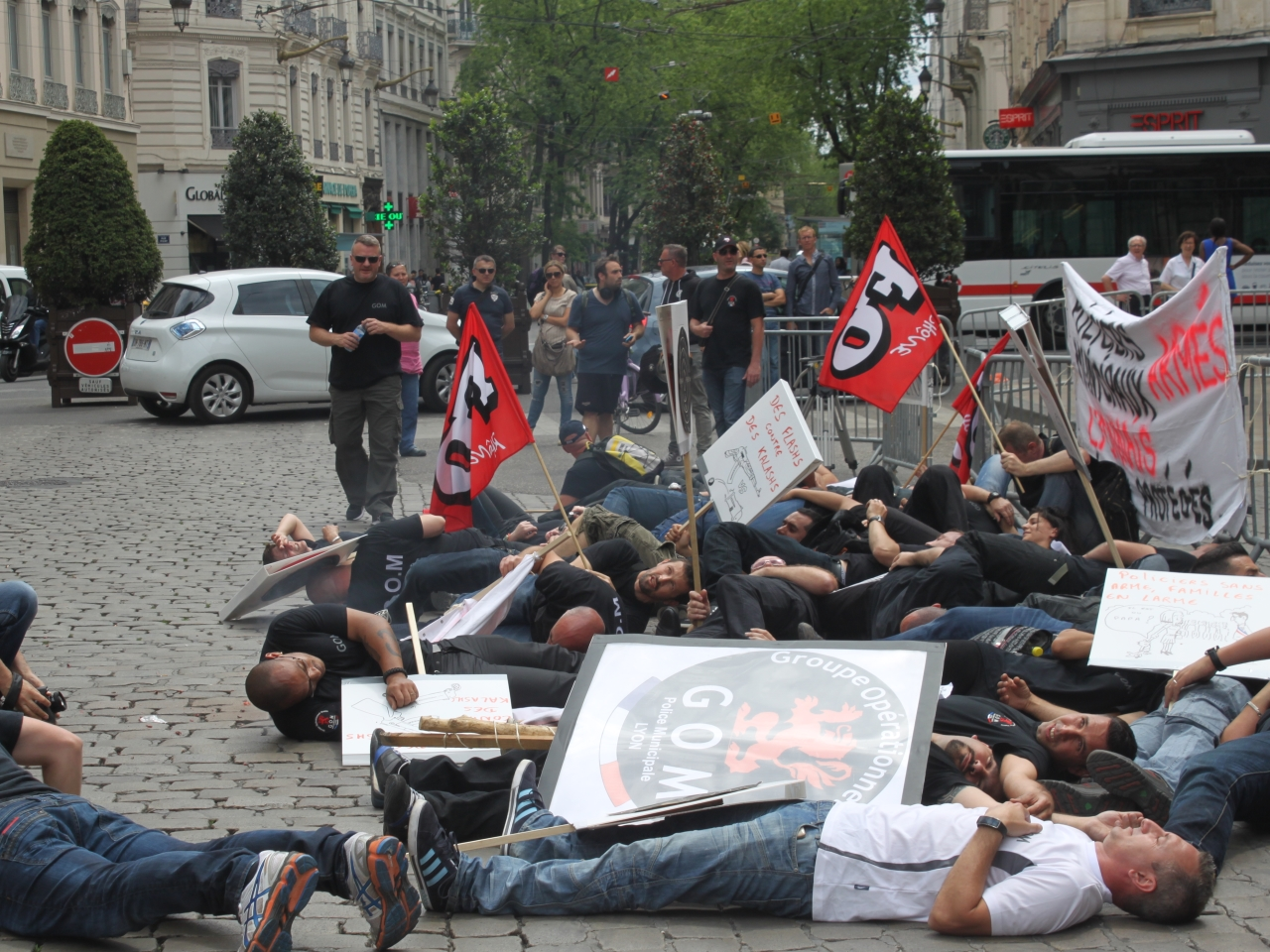 Manifestation des agents de la GOM - LyonMag