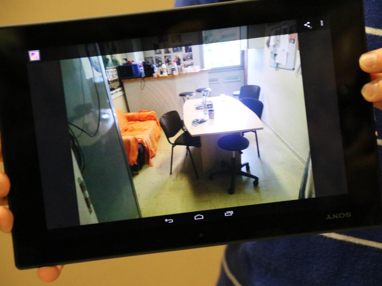 Exemple d'une photo prise sur le terrain grâce à une tablette Néo - LyonMag