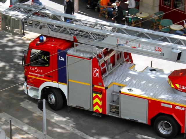 Intervention des pompiers pour un début d'incendie sur le campus de la Doua
