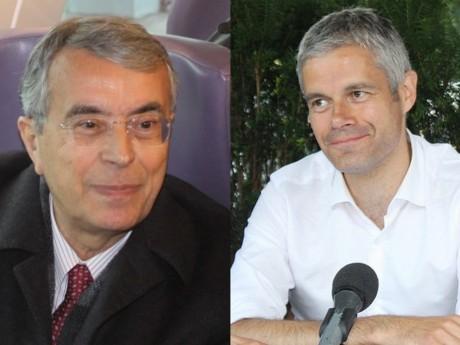 Jean-Jack Queyranne et Laurent Wauquiez - montage LyonMag.com