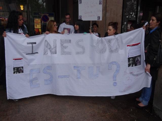 Disparition d'Inès : une quarantaine de personnes mobilisées à Lyon