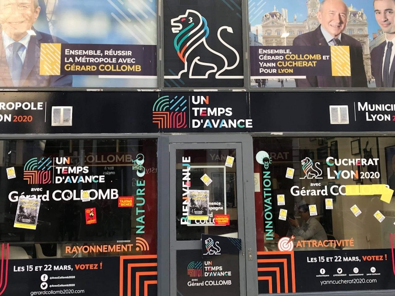 Municipales à Lyon : le local de campagne de Gérard Collomb ciblé par les gilets jaunes