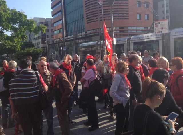 Lyon : les retraités se sont mobilisés ce mardi matin