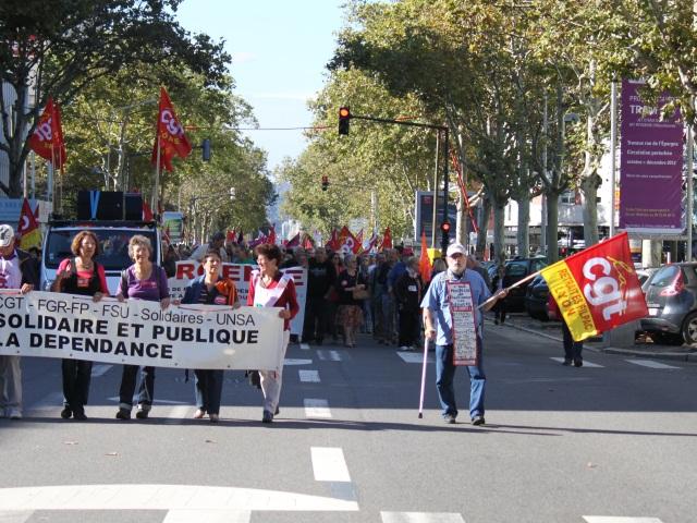 Les retraités du Rhône de nouveau dans la rue ce mardi