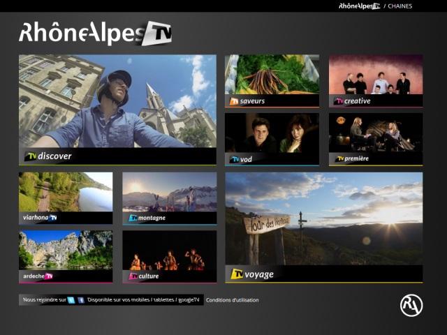 La région Rhône-Alpes lance sa plateforme TV sur internet