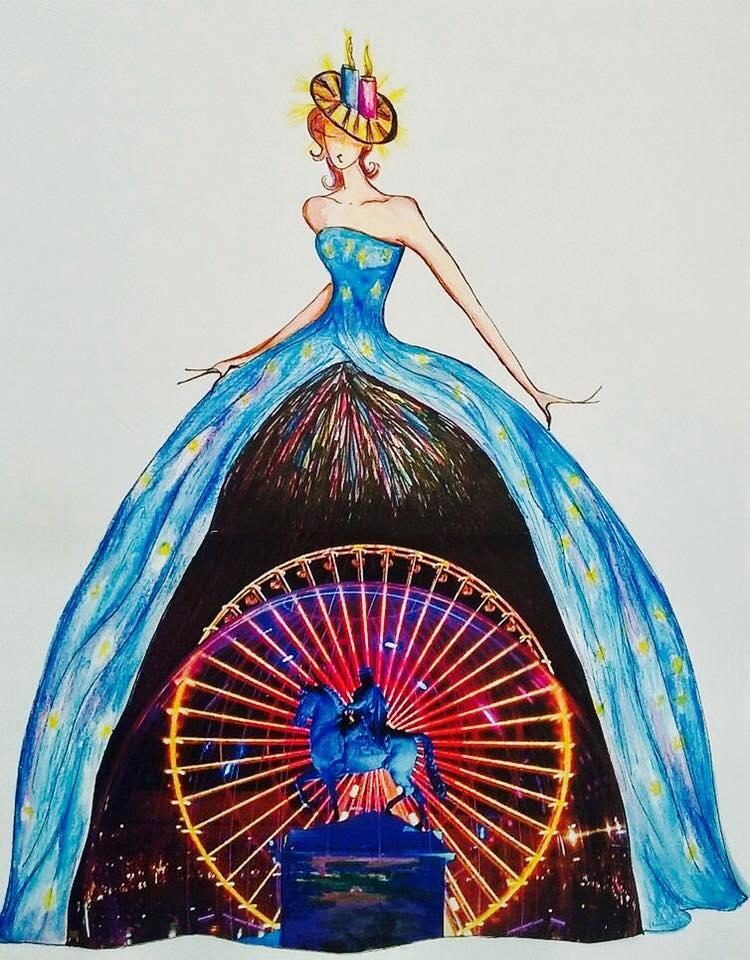 La robe que portera Dalida Benaoudia ce samedi - DR