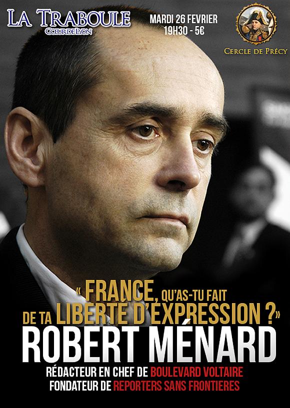 Lyon : Robert Ménard reçu mardi à la Traboule