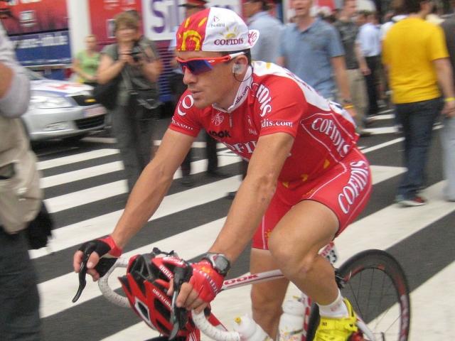 Le Lyonnais Samuel Dumoulin au départ du Tour de l'Ain ce vendredi