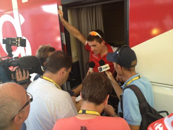 """Le Tour de France du lyonnais Sam Dumoulin: """"encore de l'essence dans le moteur !"""""""