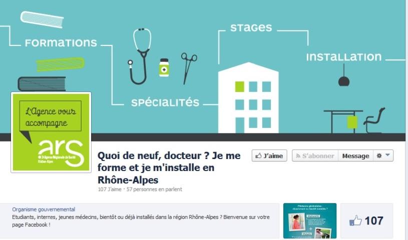 L'agence régionale de santé drague les jeunes médecins via Facebook