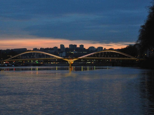 Simulation d'accidents sur le chantier du futur pont Schuman à Lyon