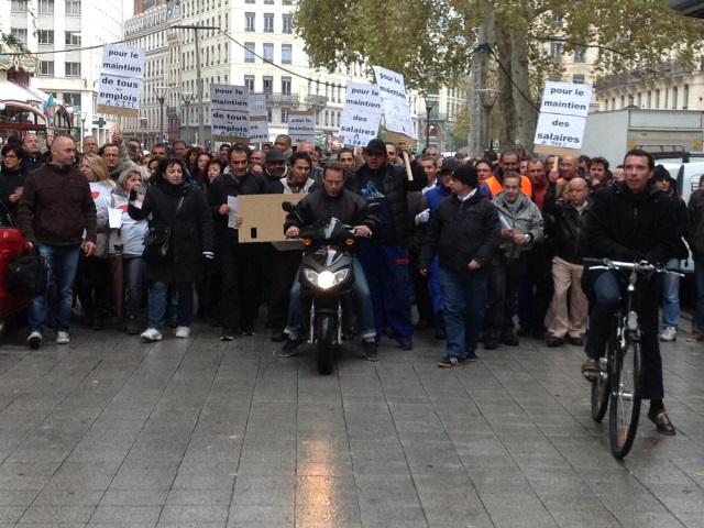 200 salariés de SITL ont manifesté ce vendredi en centre-ville