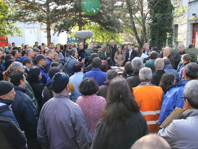 Gérard Collomb reçoit les salariés de SITL