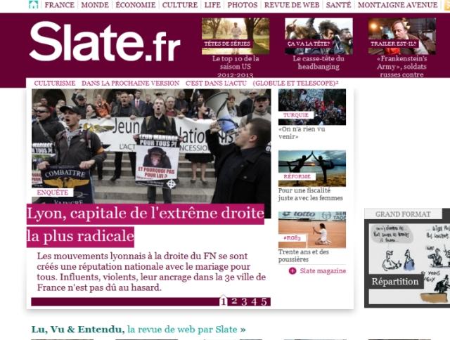 Slate.fr sort une enquête sur l'extrême-droite à Lyon