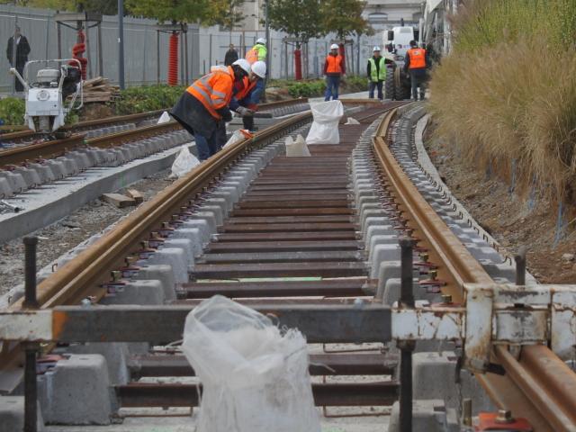 La soudure symbolique du 300e rail de la ligne T2+