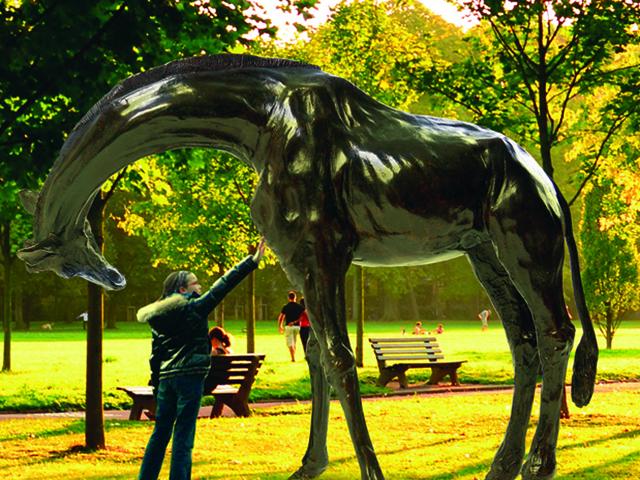 Des girafes en bronze pour le Parc de la Tête d'Or