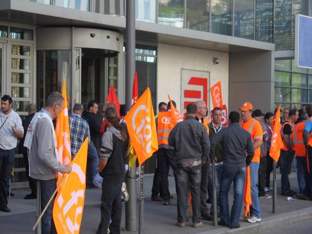 Mobilisation des salariés d'Eiffage Energie ce lundi à Lyon