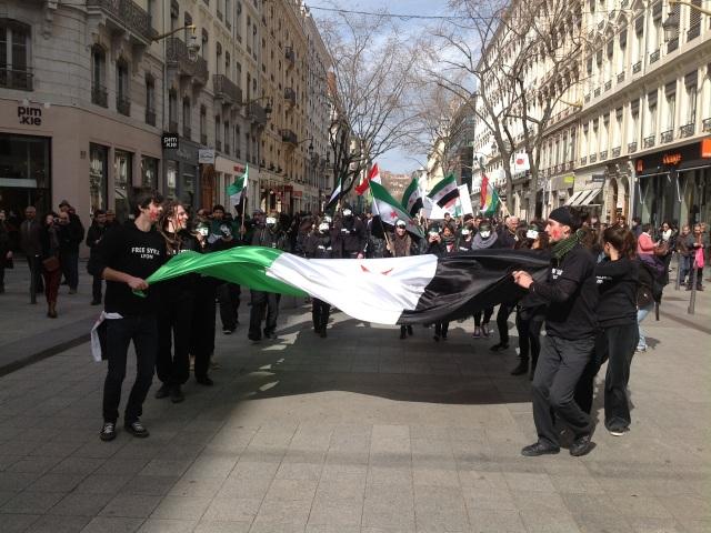 Lyon : environ 100 manifestants pour la fin de la guerre en Syrie