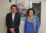 Laure Dagorne, candidate UMP aux législatives dans la 3e circonscription (à droite), et son suppléant, Stéphane Guilland (à gauche)