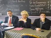Yvan Benedetti, Estelle Gagon et Alexandre Gabriac, de la liste Vénissieux Fait Front - photo Lyonmag.com
