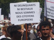 Manifestation de Roms. Photo LyonMag.com