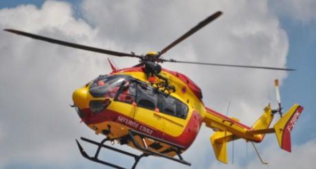 La fillette de 4 ans a été transportée par hélicoptère à l'hôpital de Bron - DR