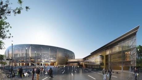 Le projet d'Arena de l'ASVEL, vu de l'extérieur - Photo Gensler