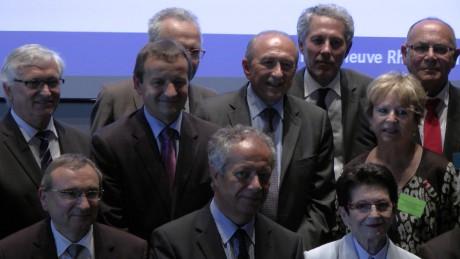 Gérard Collomb, au centre, lors de la première assemblée du pôle métropolitain - Photo DR