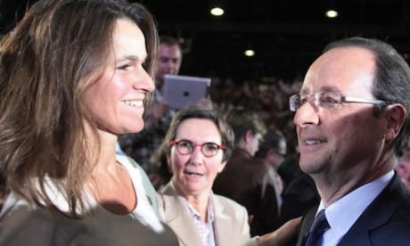 Aurélie Filipetti aux côtés de François Hollande - DR