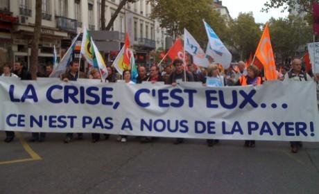 Le cortège dans les rues de Lyon, mardi  - Photo Lyonmag.com