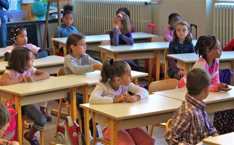 Une salle de classe de l'école Philibert Delorme à Lyon (8e) - DR