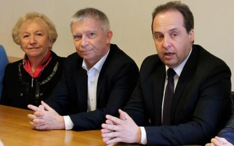 Danielle Chuzeville, Daniel Pomeret et Jean-Christophe Lagarde - DR