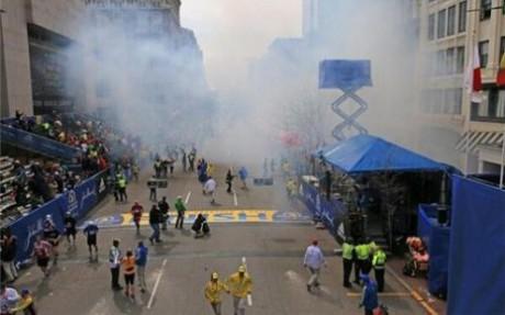 La ligne d'arrivée du marathon de Boston - DR