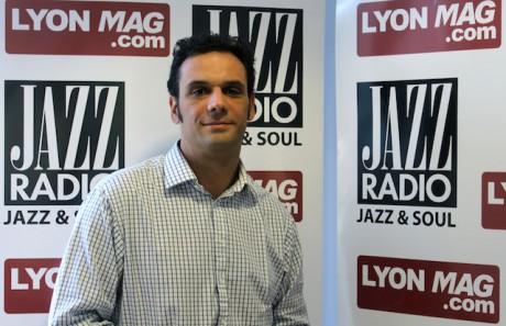 Thomas de Oliveira, directeur du salon international de l'automobile de Lyon, dans les studios de Jazz Radio - JazzRadio/LyonMag dans les studios de Jazz radio