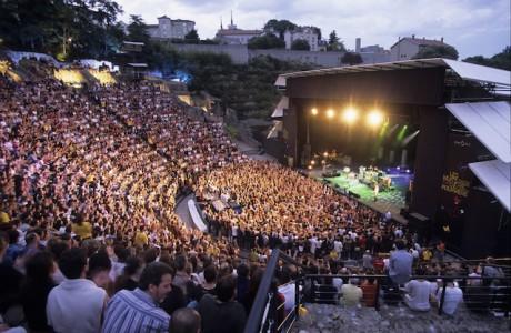 Le site du grand théâtre de Fourvière qui accueille chaque année les Nuits - DR