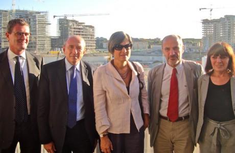 Le maire de Lyon, accompagné des élus Nadine Gelas et Jean-Michel Daclin, reçu par l'équipe de City Life à Milan - LyonMag