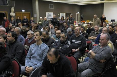 Les salariés de véninov lors d'une table ronde organisée en mairie de Vénissieux - Expressions Vénissieux - DR