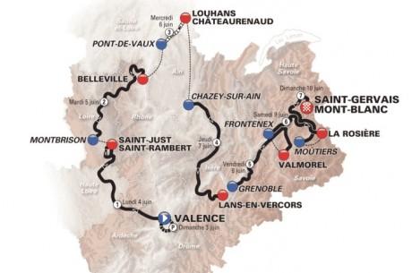 Le parcours du Critérium du Dauphiné 2018