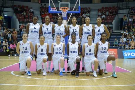 L'équipe de France de basket féminin face à la Serbie ce vendredi - DR