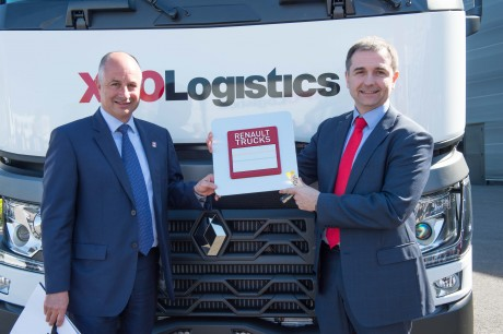 Bruno Blin (Renault Trucks) et Luis Angel Gomez (XPO Logistics) - DR