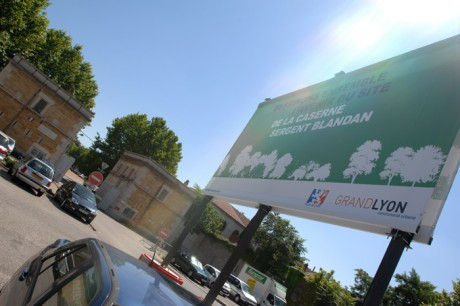 L'entrée de la Caserne Sergent Blandan - Photo Grand Lyon