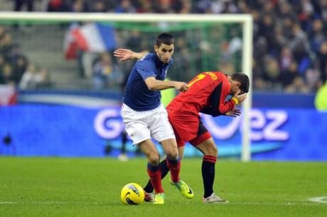 Maxime Gonalons lors de sa sélection contre la Belgique - Photo AFP/DR